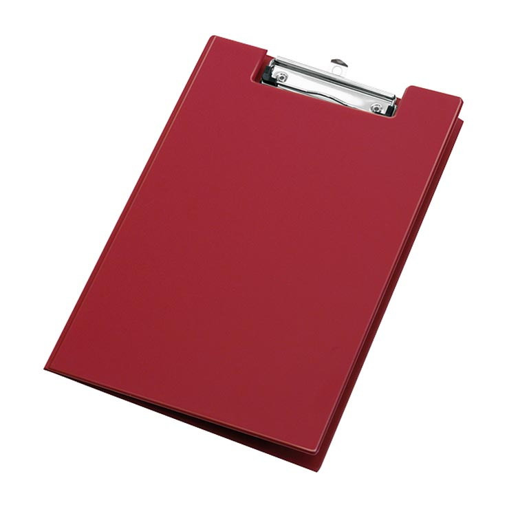 A4 folding clip board - red 320 x 230mm