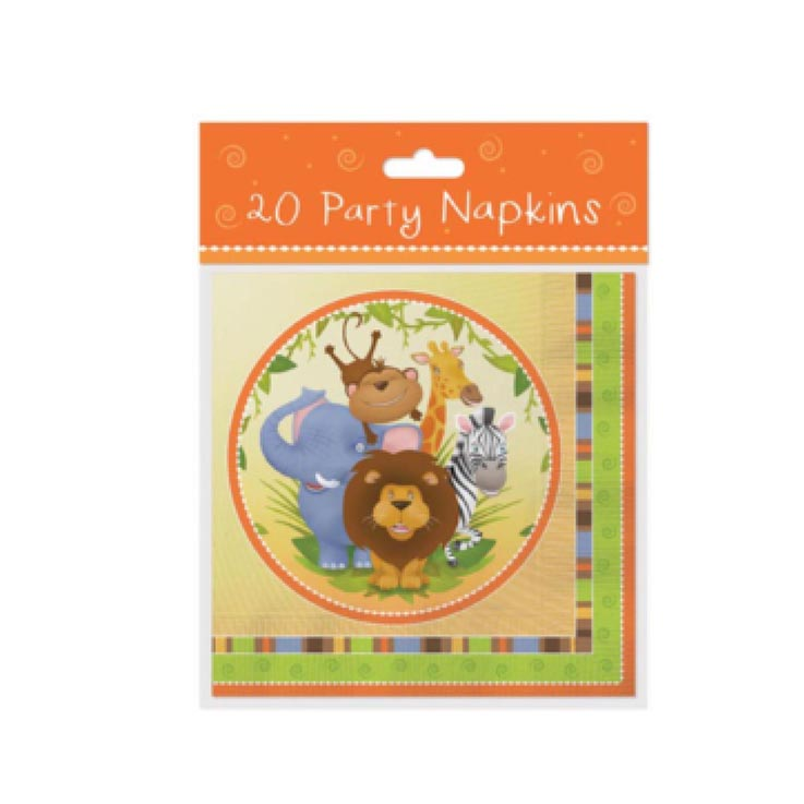 Napkins 20pk jungle design - 6755