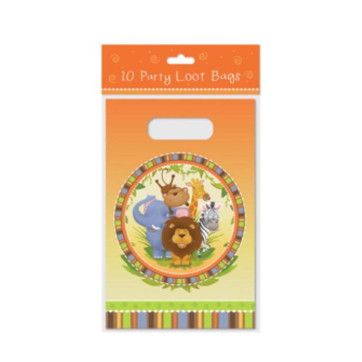 Loot party bags 10pk jungle design - 6759