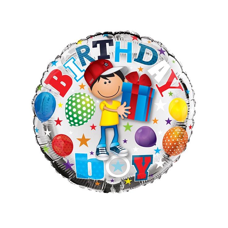 "Helium balloons 18"" - birthday boy - fb1205r"