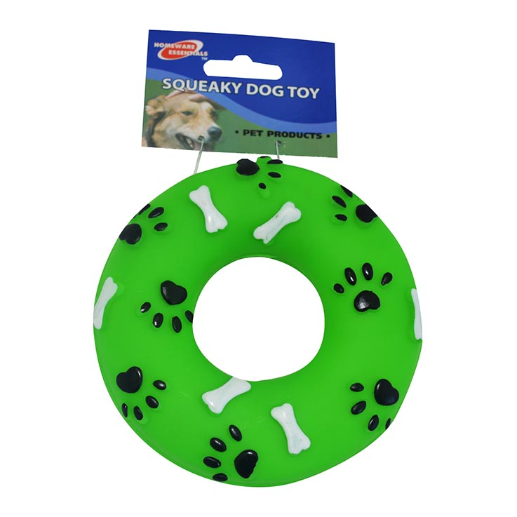 Squeaky dog toy ring