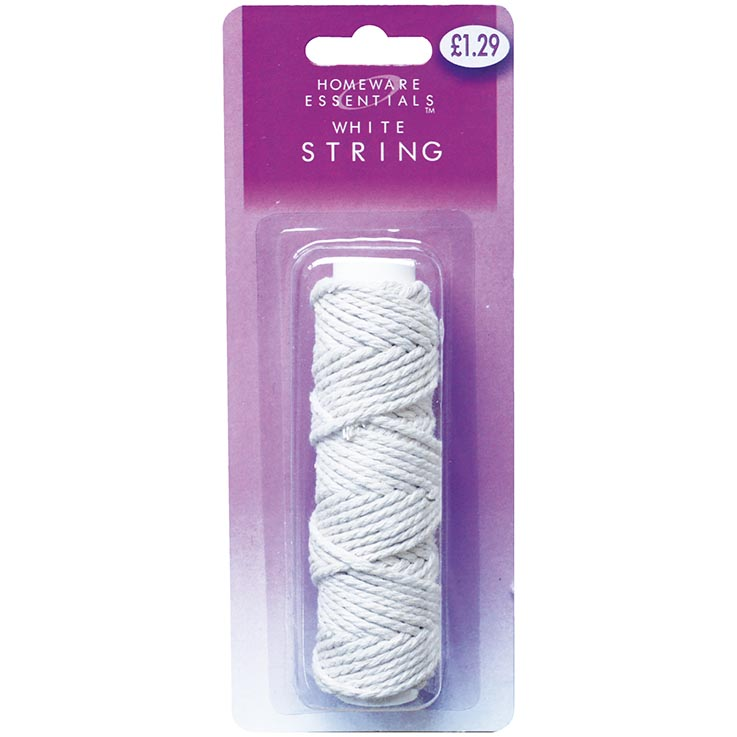 White string 12m roll