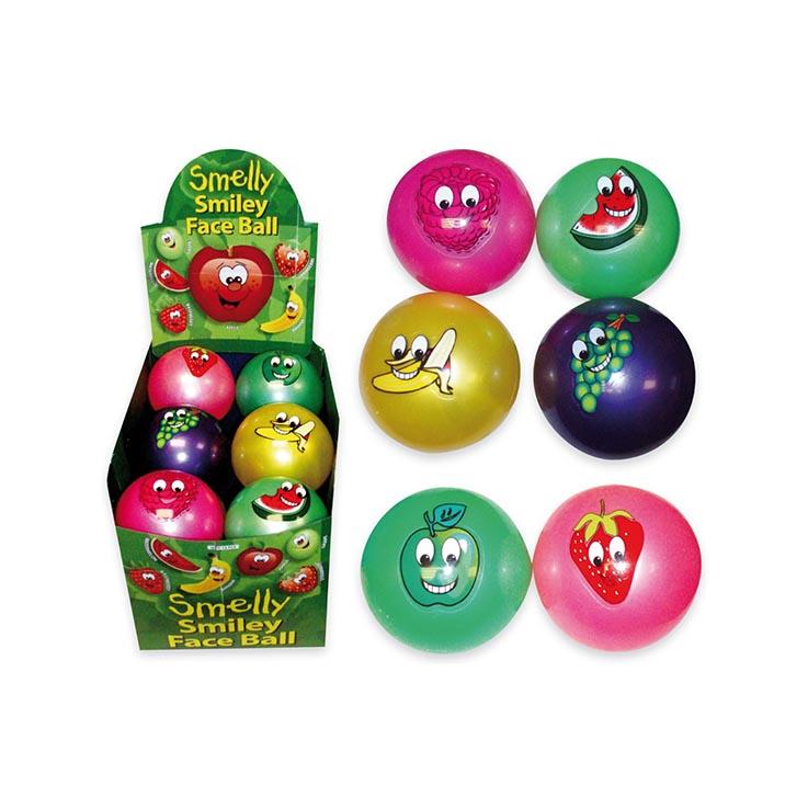 Ball smelly smile face 9cm 40g (6asstd)