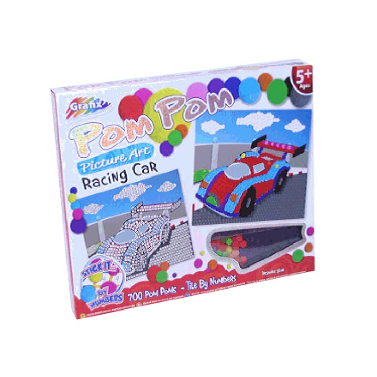 Make your own pompom racing car