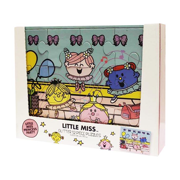 Glitter little miss 12pce puzzle