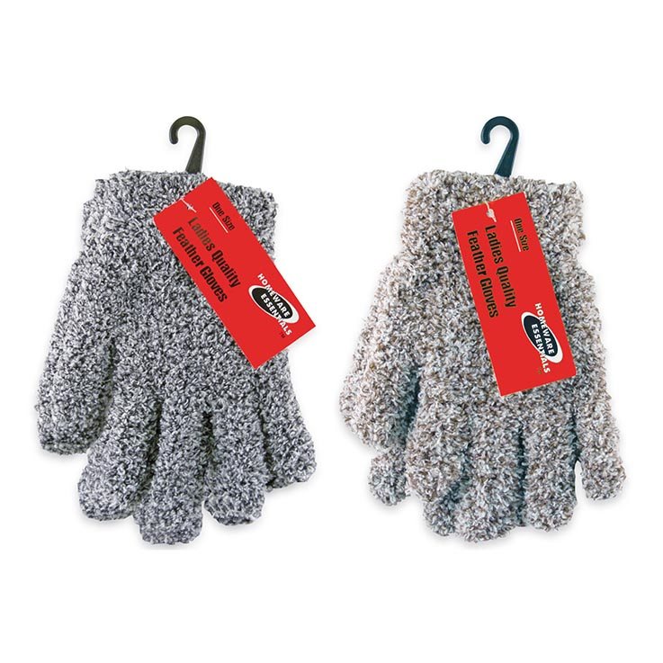 Ladies quality feather gloves