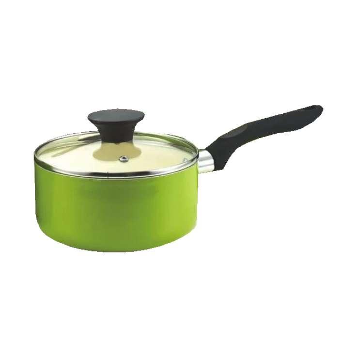 """6"""" Lime saucepan & glass lid"""