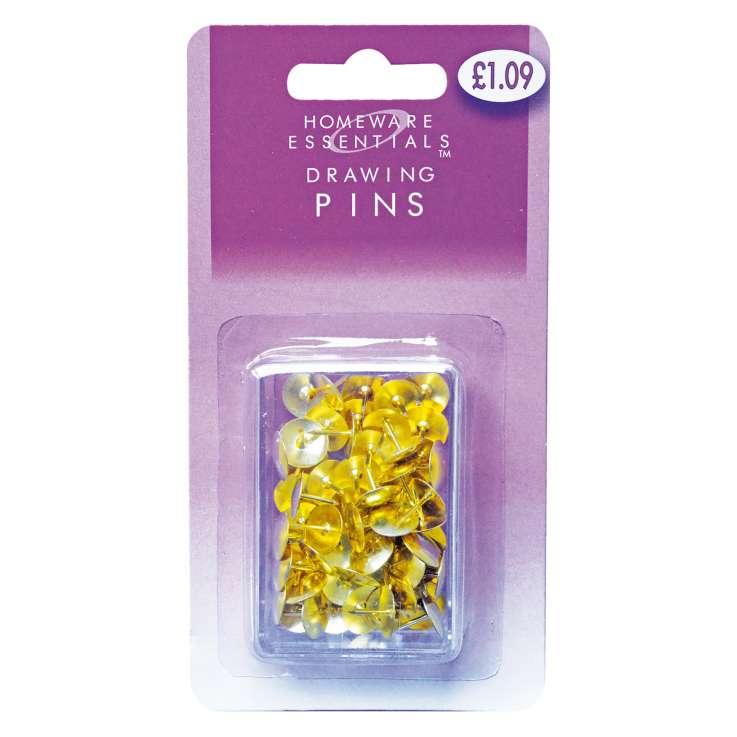 Homeware Essentials Drawing Pins 60 Pack (HE14)