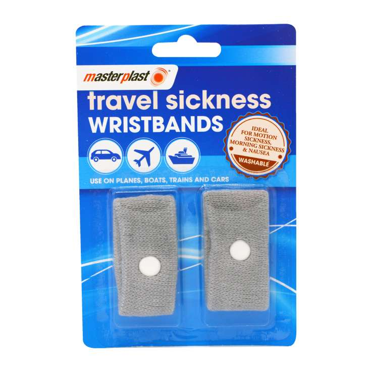 Travel sickness wristbands