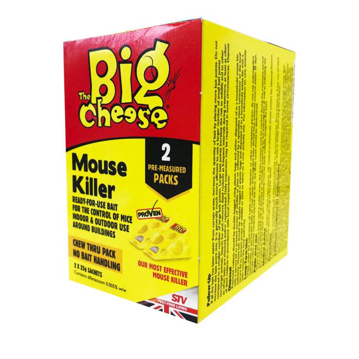 The big cheese mouse killer chew thru pack 2x25g