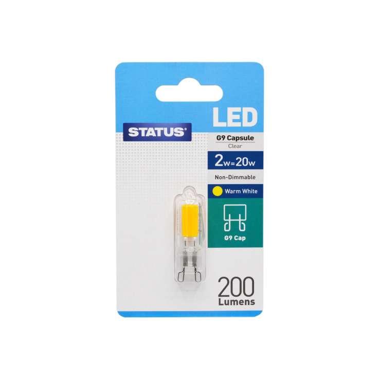 Status LED 2w=20w G9 Capsule Light Bulb