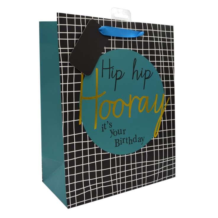 Large Gift Bags - Hip Hip Hooray (26cm x 32cm)