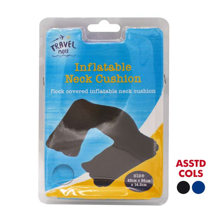 Inflatable neck cushion - assorted colours