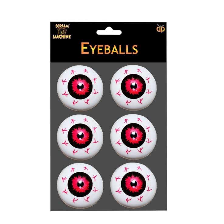 Scream Machine Fake Eyeballs 6 Pack