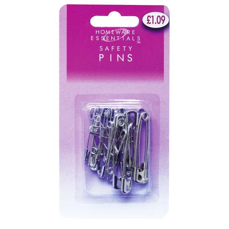 Homeware Essentials Safety Pins 24 Pack (HE07)