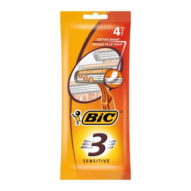 BIC 3 sensitive disposable razors 4s
