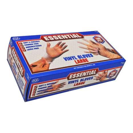 Powder Free Vinyl Gloves 100 Pack - Large