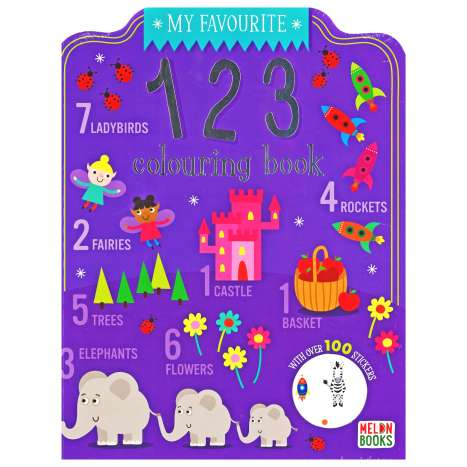 123 Colouring Book 72 Pages + 100 Stickers