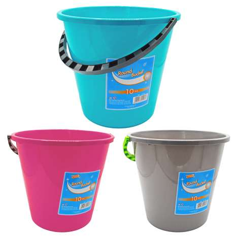 Round Bucket 10L - Assorted Colours