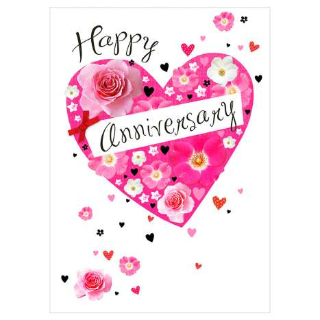 Garlanna Greeting Cards Code 50 - Happy Anniversary