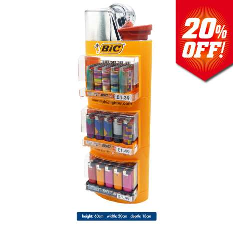 BIC Lighter Bundle - With Free Display Stand