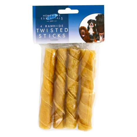 "H/ess 5"" rawhide twisted sticks 4 pack"