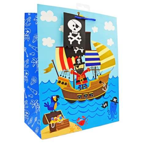 Large Gift Bags - Pirates (26.5cm x 33cm)