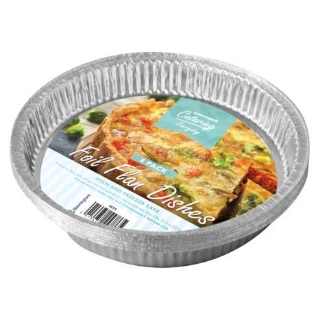 Large Foil Flan Dishes 6 Pack