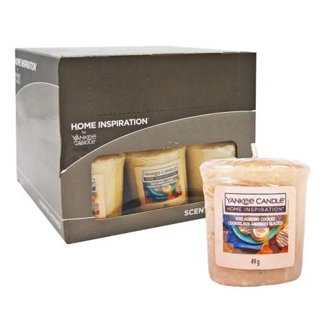 Yankee Votive Candles Iced Almond Cookie 49g