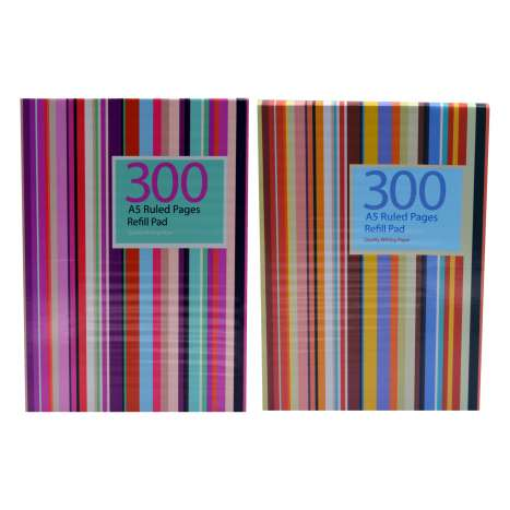 A5 Refill Pad 150 Sheets - Assorted Colours