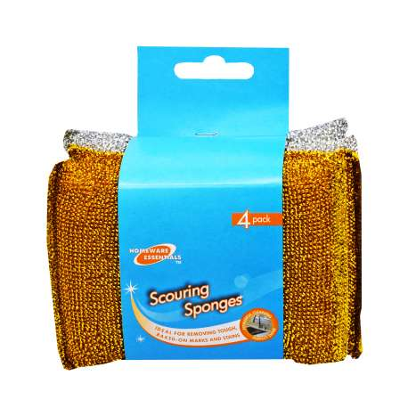 Homeware Essentials Scouring Sponges 4 Pack