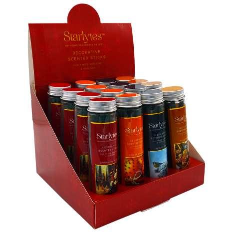 Starlytes Decorative Scented Sticks 6 Pack (Cinnamon Spice, Spiced Orange , Spruce Fir & Gingerbread)
