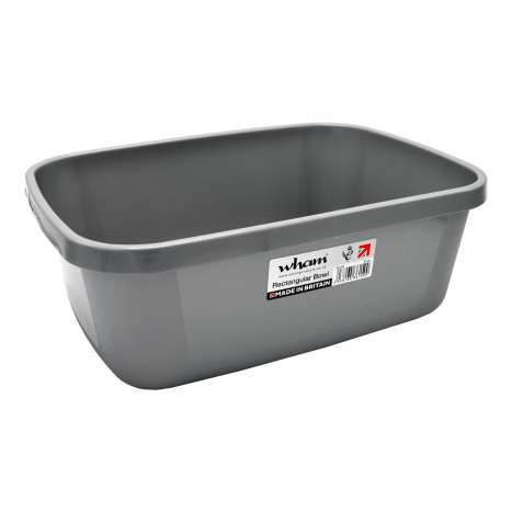 Rectangular Washing Up Bowl - Silver