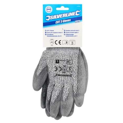 Silverline Cut 3 Work Gloves - Large