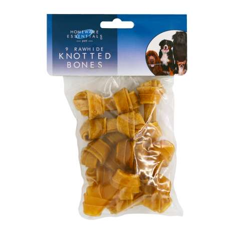 Homeware Essentials Small Knot Bones 9 Pack