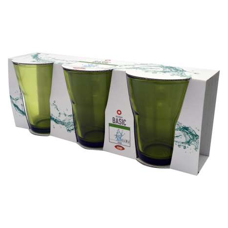 Italian Made Glass Tumbler 3 Pack - 300ml