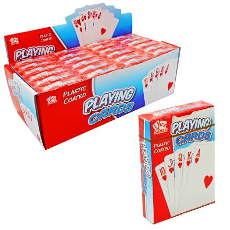 Plastic Coated Playing Cards (In Display)