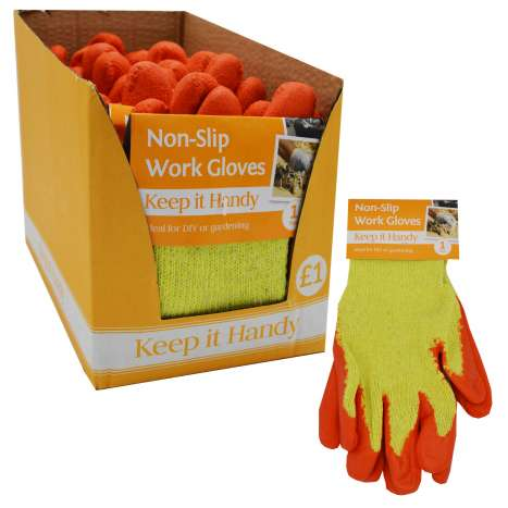 Non-slip work gloves