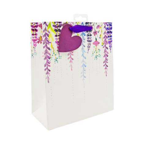 Medium Gift Bags - Falling Floral (21.5cm x 25.5cm)