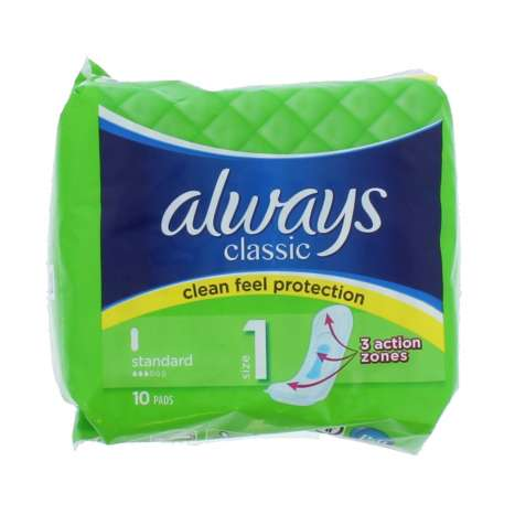 Always Classic Standard Sanitary Pads 10 Pack