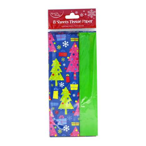 Neon Tissue Paper - 8 Sheets