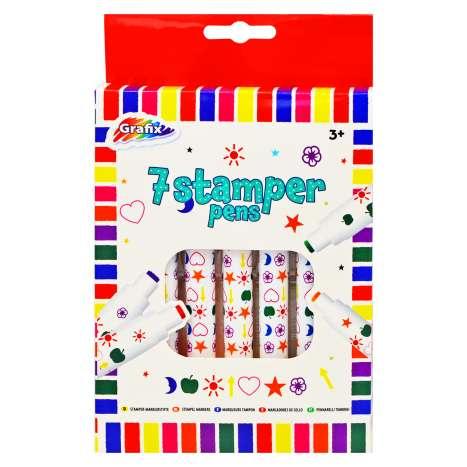7 Stamper Marker Pens