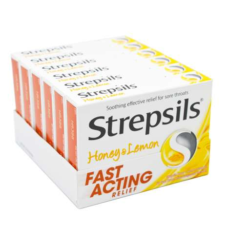 Strepsils Lozenges 16 Pack - Honey & Lemon