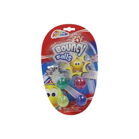 Grafix bouncy balls 4PK