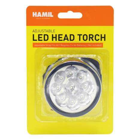 Hamil Adjustable LED Head Torch