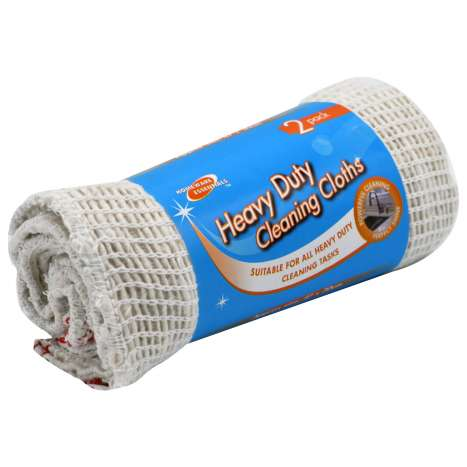 H/ess h/duty cleaning cloth 2pk