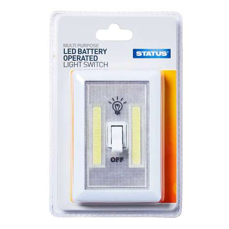 Status LED Battery Operated Light Switch