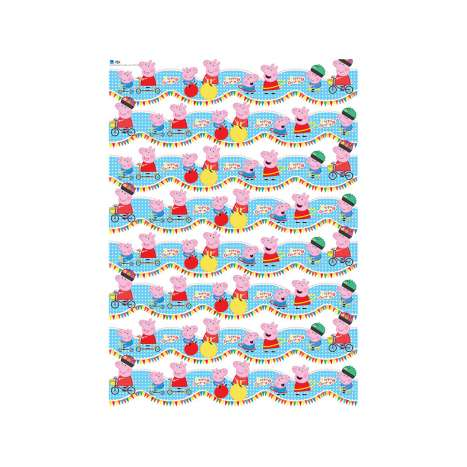 Peppa Pig wrap 2M *Roll* x 70cm - in display - Price Marked £1.50