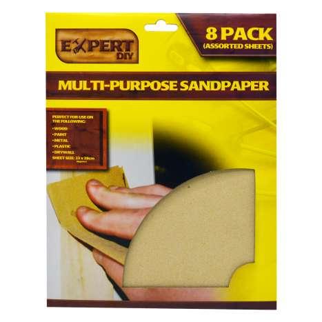 DIY Expert Multi-Purpose Sandpaper 8 Pack
