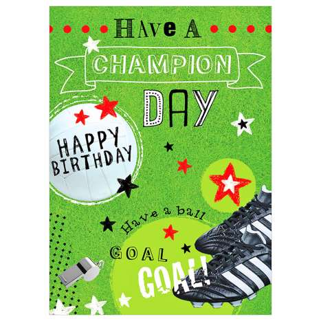 Garlanna Greeting Cards Code 50 - Champion Day